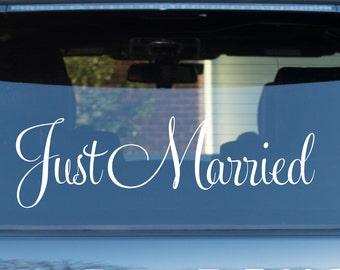 Just Married Vinyl Decal Wedding Decal Car Decal for Wedding Just Married Decal Car Window Decal Wedding Day Decor