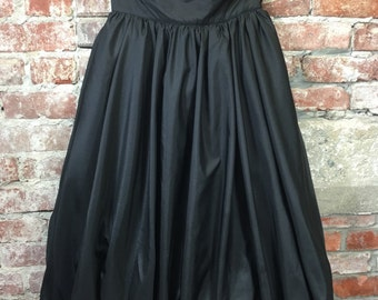 Vintage 80s 90s Black Crinoline Poof Skirt Prom Skirt Size Small