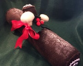 Yule Log Felt Yule Log Toy or Decor