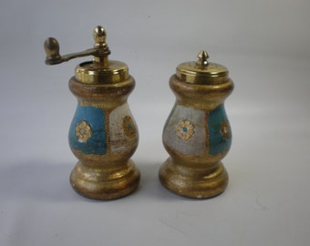 Vintage Florentine Salt and Pepper
