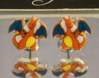 Charizard Stud Earrings - Pokemon Jewelry