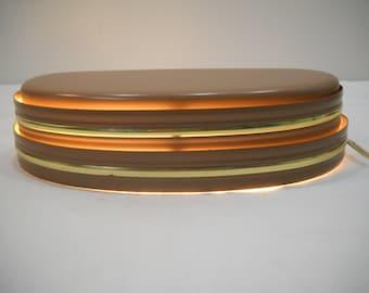 Vintage Brown & Gold Headboard Light Bed Reading Metal Lamp By Gregg MFG