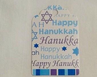 Hanukkah Gift Tag Set of 6 Tags... Magical