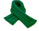 Green Neck Ice Wrap 5x26, 3 columns Microwavable and Freezable, Hot and Cold Pack, Extra Long and Wide, Filled with Flax Seeds