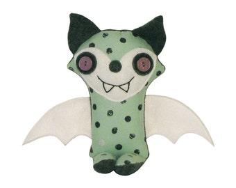 Stuffed Monster, Bat Fox, Plush Fox Toy, Friendly Monster Fox, Unique Kids Toy, Stuffed Animal, Fox Plush Doll, Happy Monster Sage