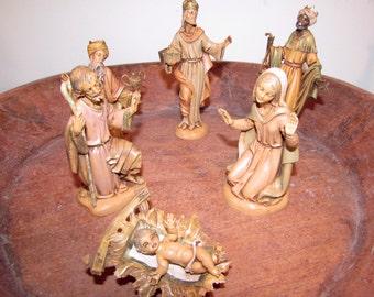 Vintage Fontanini Italy Resin Nativity