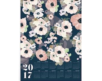 UNE FEMME 2017 large canvas wall calendar