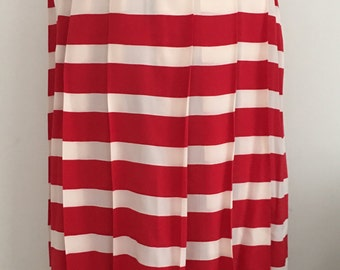 Red and white striped skirt – Etsy