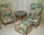 SOLD TO DANIELLE -  Wingback Chair & Ottoman