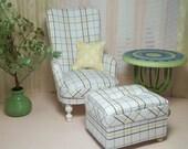 1:6 Chair & Ottoman for Fashion Royalty, Silkstone, Barbie