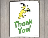 Dr. Seuss Thank You Card - Seuss Party, Baby Shower, Birthday - Cat in the Hat, Green Eggs and Ham, Oh the Places You'll Go
