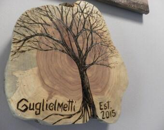 Custom hand made pyrography wood burned garden sign, wall decor, wedding present...