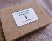 ROSEMARY E/O-goat milk soap-bath/shower bar