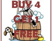 BUY 4 Get 1 FREE-goat milk soap-bath/shower bars by Happy Goat