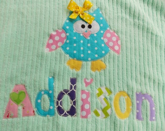 Personalized Towel applique name great for beach, bath. appliqué towel birthday gift rest mat  pool  bath