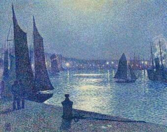 Moonlit Night in Boulogne - Cross stitch pattern pdf format