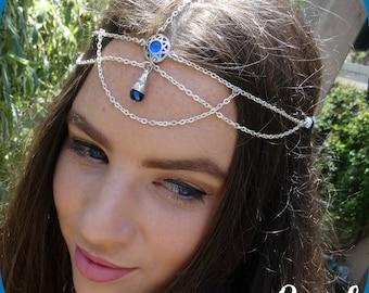Head Chain Hair Jewelry Headpiece Head Jewelry Chain Boho Headpiece Head Jewelry Hair Accessories Head Piece Chain Headpiece Headdress Bluez