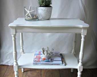 RESERVED~Cottage White Accent Table
