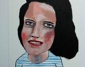 Original art // portrait painting // Jupiter no. 25 // original painting // illustration on paper // woman painting