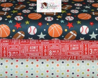 Riley Blake. Sports Fan. Balls, Signs, and Stars  - Choose your cut and print