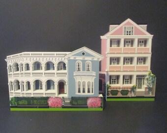 Sheila's Houses Charleston South Carolina CutOut Signed USA South Battery Street