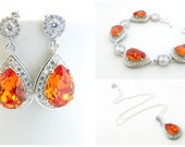 Clear Wedding Jewelry Set - RESERVED for Tara
