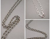 Sterling silver Chain - .925 - Drawn Cable Chain - Thick chain - Necklace - Jewelry Supplies - Men - Women