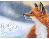 10 Folded Foxy Greetings - Card with Envelope