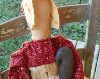 Pilgrim Prairie Doll w/Crow & Pumpkin