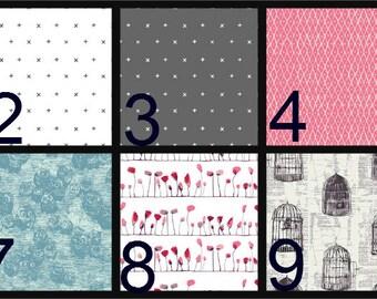 Boppy Pillow Cover, Personalized boppy cover, embroidery, Nursing Pillow Cover, Minky, Boppy Cover, pink, aqua, birds, gray