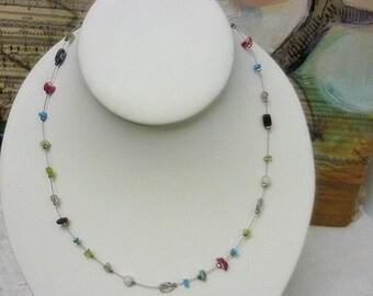 Floating Stones vintage Necklace