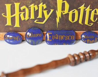 Harry Potter Inspired Magnets, Spells, Set of 4