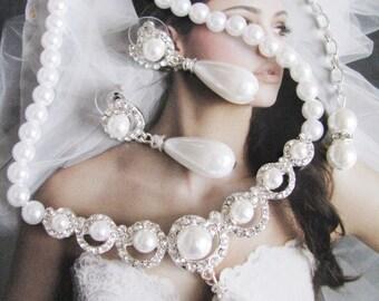 Wedding Backdrop Necklace Bridal Necklace - Bridal Jewelry - Wedding Necklace - Pearl Necklace - Backdrop Bridal Necklace