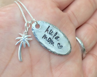 Hula Mom, Aloha Necklace, live aloha, Ohana, Hawaiian necklace, Hawaiian Jewelry, Beach Jewelry, Hula, natashaaloha