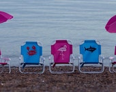 Personalized Child's Beach Chair with Umbrella