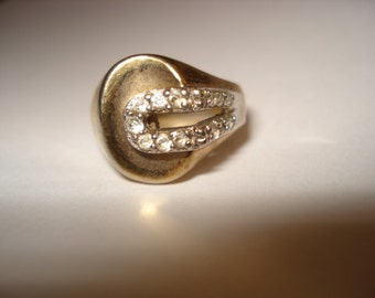 PANETTA Signed Gold Tone Ring Vintage