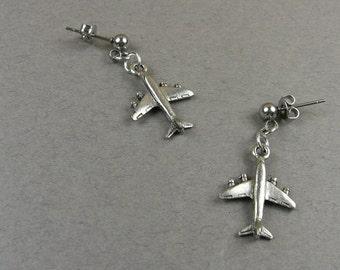 Airplane Earrings (Travel Jewelry) Flight Gift for Pilot, Flight Attendant, Aviator, World Traveler