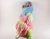 Handspun Yarn, Handpainted Yarn, Hummingbird,184 yds.