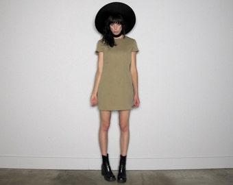 Vintage SHIFT DRESS Mod Grunge Medium Weight Minimal VTG Size M/L