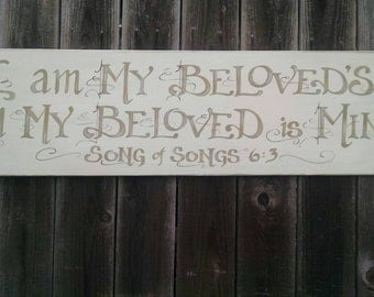 I Am My Beloved's Hand-Painted Sign