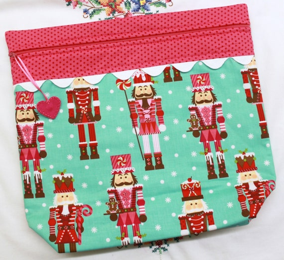 MORE2LUV Nutcracker Candyland Cross Stitch Embroidery Project Bag