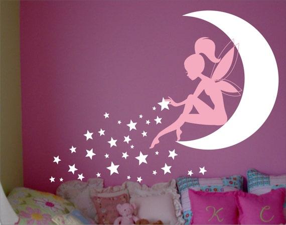 fairy wall decal fairy wall decor wall decal fairy fairy. Black Bedroom Furniture Sets. Home Design Ideas