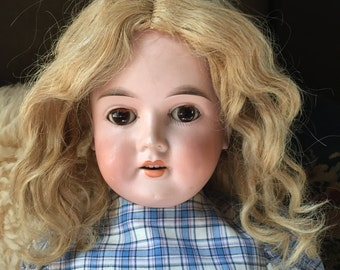 "Sweet Antique 25"" CM. BERGMANN Bisque Head Doll #1916  Jointed Composition"