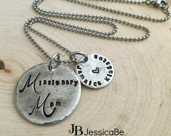 Missionary Mom Necklace ~ LDS Missionary ~ Missionary Mom Jewelry ~ JessicaBe ~ Mission Name ~ Missionary Necklace ~ LDS Mission