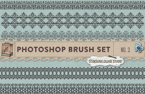 Photoshop Brushes Sweet Ornament Borders No. 2