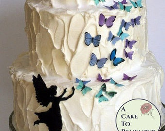 Edible Cake Decorations Fairies : Wafer paper fairy Etsy