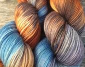 Hand Dyed Sock Yarn, Hand Dyed Yarn, Fingering Weight Yarn, Hand Painted Yarn