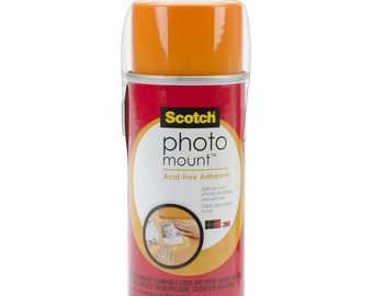 Scotch Photo Mount Spray Adhesive - For Photos Illustrations Images & More! Strong Permanent Bond Clear Non-Yellowing - 4.23 oz Can (219895)