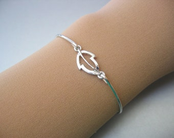 LEAF charm bangle bracelet