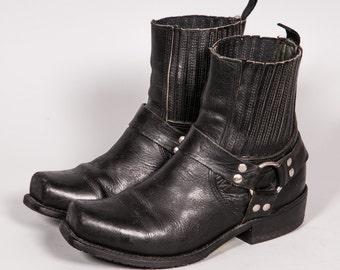 Short Motorcycle Boot Men's Size 9 .5 EE Extra Wide